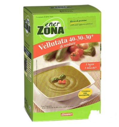enerZONA Vellutata di verdure con mozzarella 4 buste