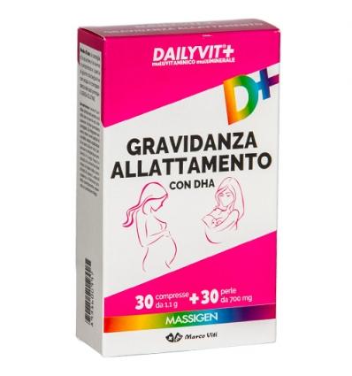 Massigen Dailyvit+ gravidanza e allattamento 30pr + 30perle