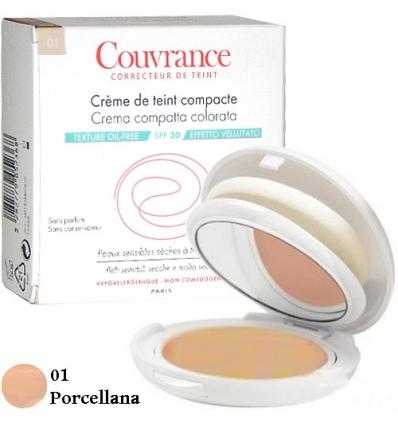 Avene Couvrance crema compatta oil free 01 porcellana
