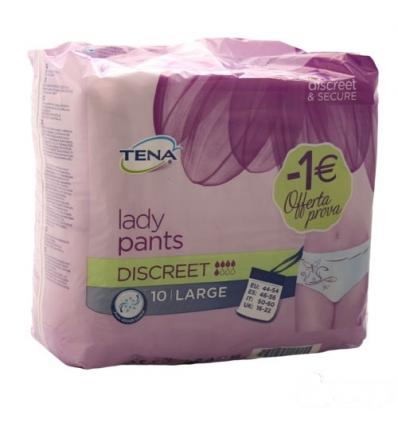 Tena lady pants discreet L 10pz