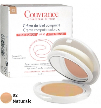 Avene Couvrance crema compatta colorata 02 naturale 9.