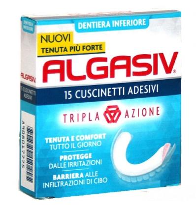 Algasiv cuscinetti adesivi inferiore 15pz