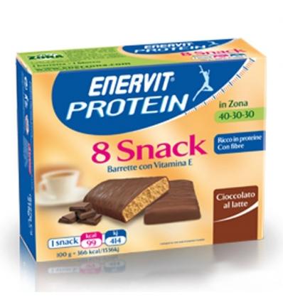 enerZONA bar  snack cioccolato al latte 8pz
