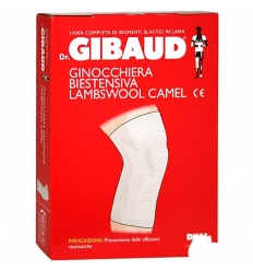 Dr. Gibaud ginocchiera biestensiva lambswool camel tg.02