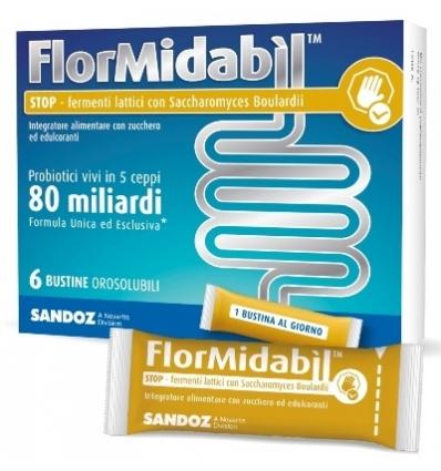 FLORMIDABIL STOP 6 BUSTINE OROSOLUBILI 1,5 G