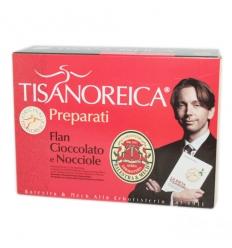 Tisanoreica flan cioccolato e nocciola box 4 preparati