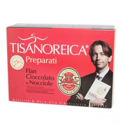 Tisanoreica flan cioccolato e nocciola box 4 preparat