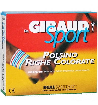 Dr. Gibaud Sport polsino righe colorate 6cm tg.02