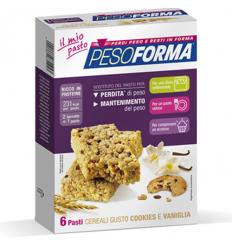 PesoForma barretta cereali con cookies e vaniglia 6 pasti