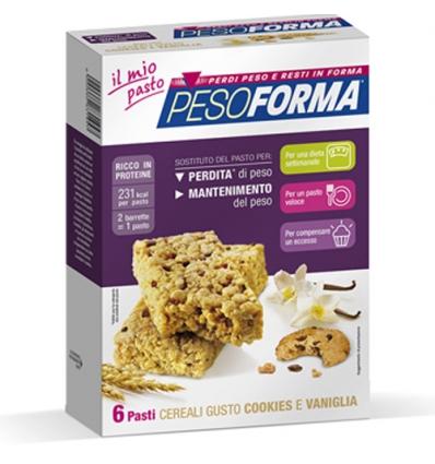 PesoForma barretta ai cereali con cookies e vaniglia 6 pasti