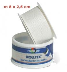 Rolltex cerotto aerato in tela bianca 5m x 2,5cm