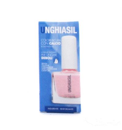 Unghiasil Colore&cura con calcio rosa fragola 10ml