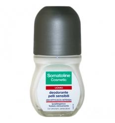 Somatoline deodorante uomo pelli sensibili roll-on 50ml