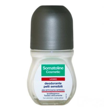 Somatoline deodorante uomo pelli sensibili roll-on 50