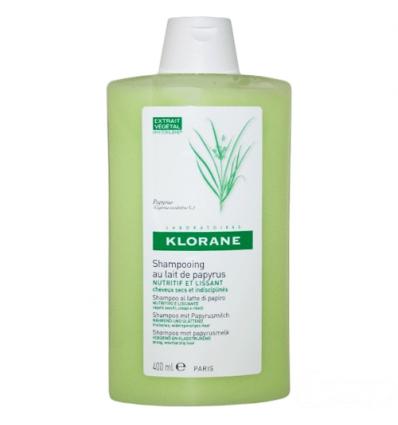 Klorane latte di papiro shampoo capelli secchi e crespi 400ml