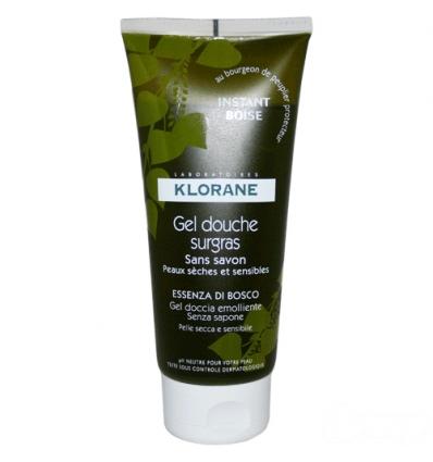 Klorane gel doccia essenza di bosco 200ml