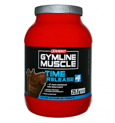 GymLine Muscle TIME RELEASE 4 800g cacao